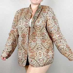 Alfred Dunner Reversible Quilted Jacket 18W